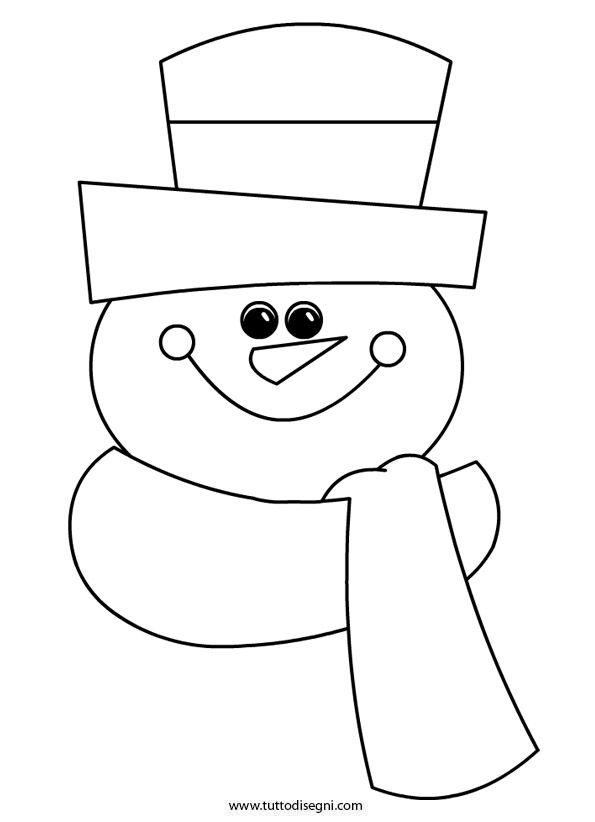 Disegni Inverno Pupazzo Di Neve Tuttodisegni Com Ricamo