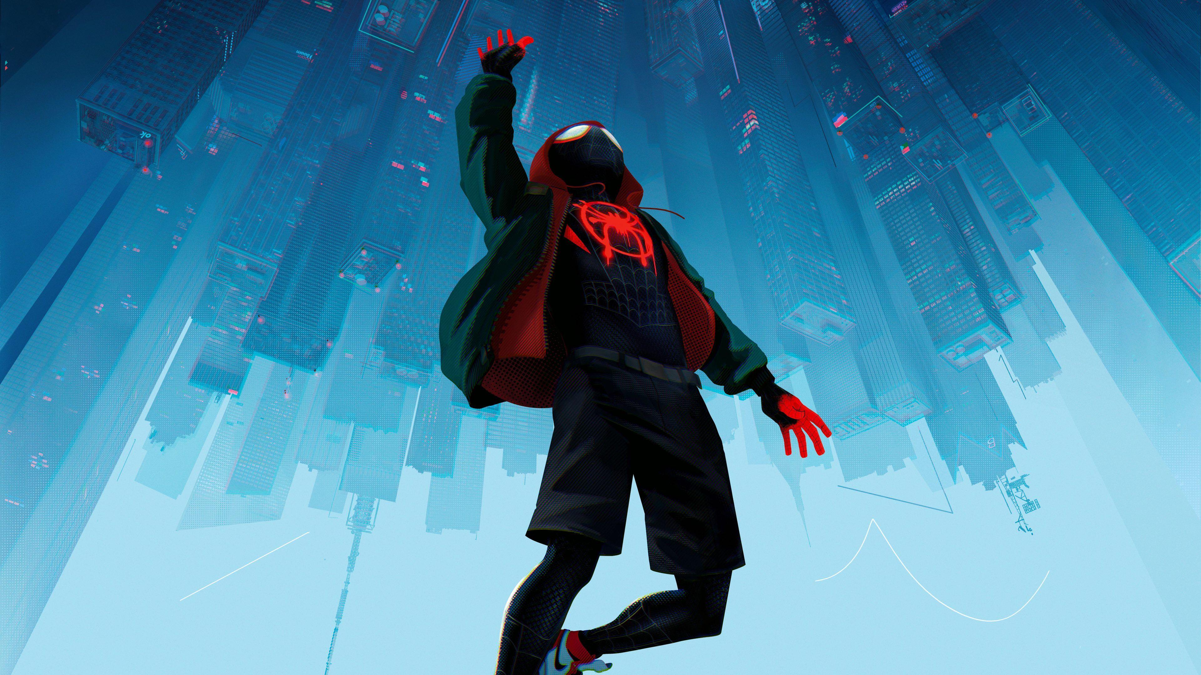 Spiderman Into The Spider Verse Movie 4k Spiderman Wallpapers Spiderman Into The Spider Verse Wallpapers Movie Spider Verse Spiderman Miles Morales Spiderman