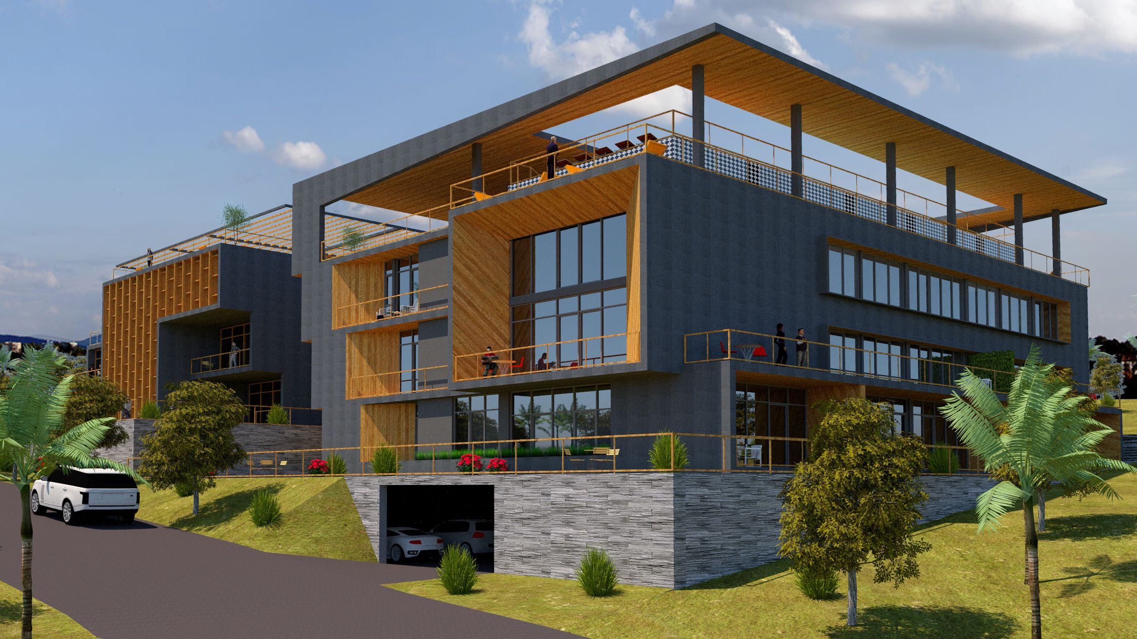 Cascade Office Building Design Apartment Building Residential Apartments