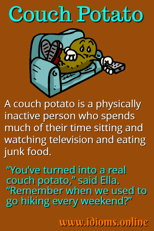 Couch Potato Idioms And Phrases Idioms English Idioms