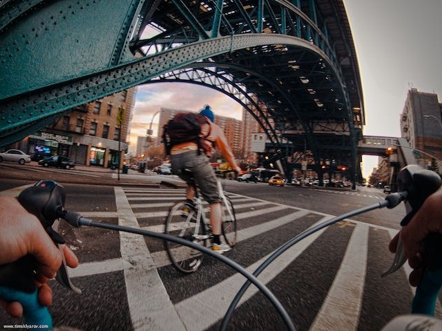 New York Through The Eyes Of A Road Bicycle by Tim Sklyarov