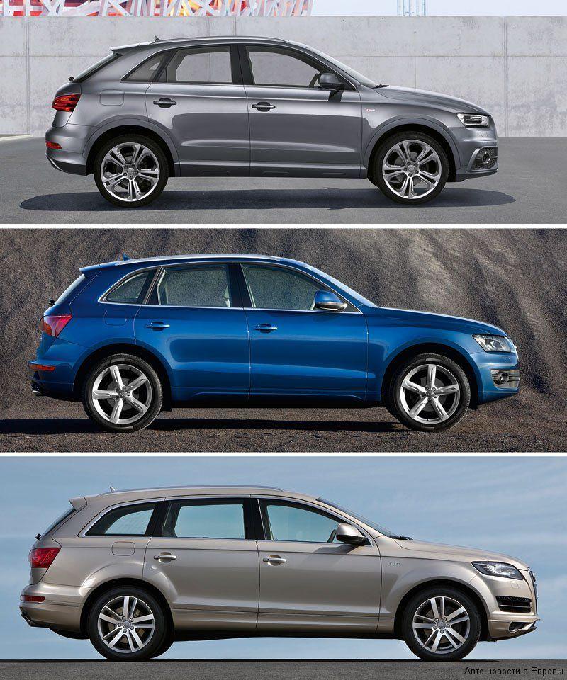 Audi Q3 Q5 Q7 - Google Search