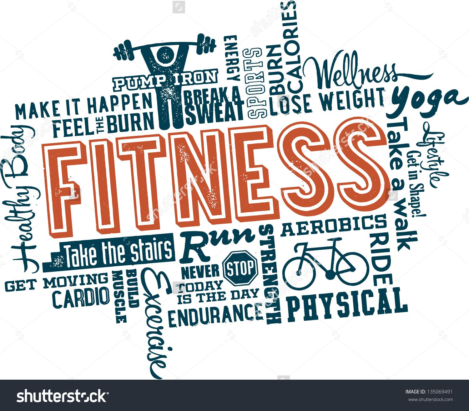 Fitness and healthy exercise word and icon cloud stock vector fitness and healthy exercise word and icon cloud stock vector illustration buycottarizona Choice Image