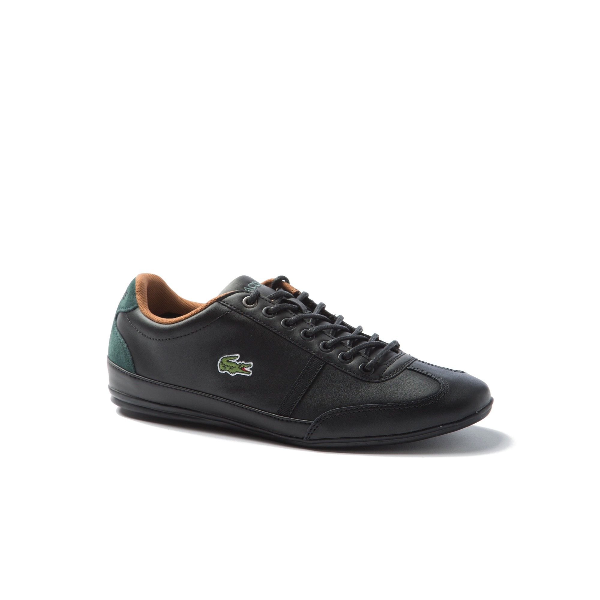 95359fd2eb2f LACOSTE Men's Misano Sport Leather Sneakers - black/black. #lacoste #shoes #