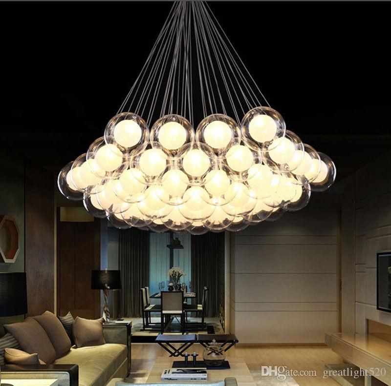 Großhandel Moderne LED Glaskugel Pendelleuchten LED Ball Bubble Kronleuchter Pendelleuchte Deckenleuchten Mit G4 Birne Von Greatlight520, $142.67 Auf De.Dhgate.Com | Dhgate #bubblekronleuchter