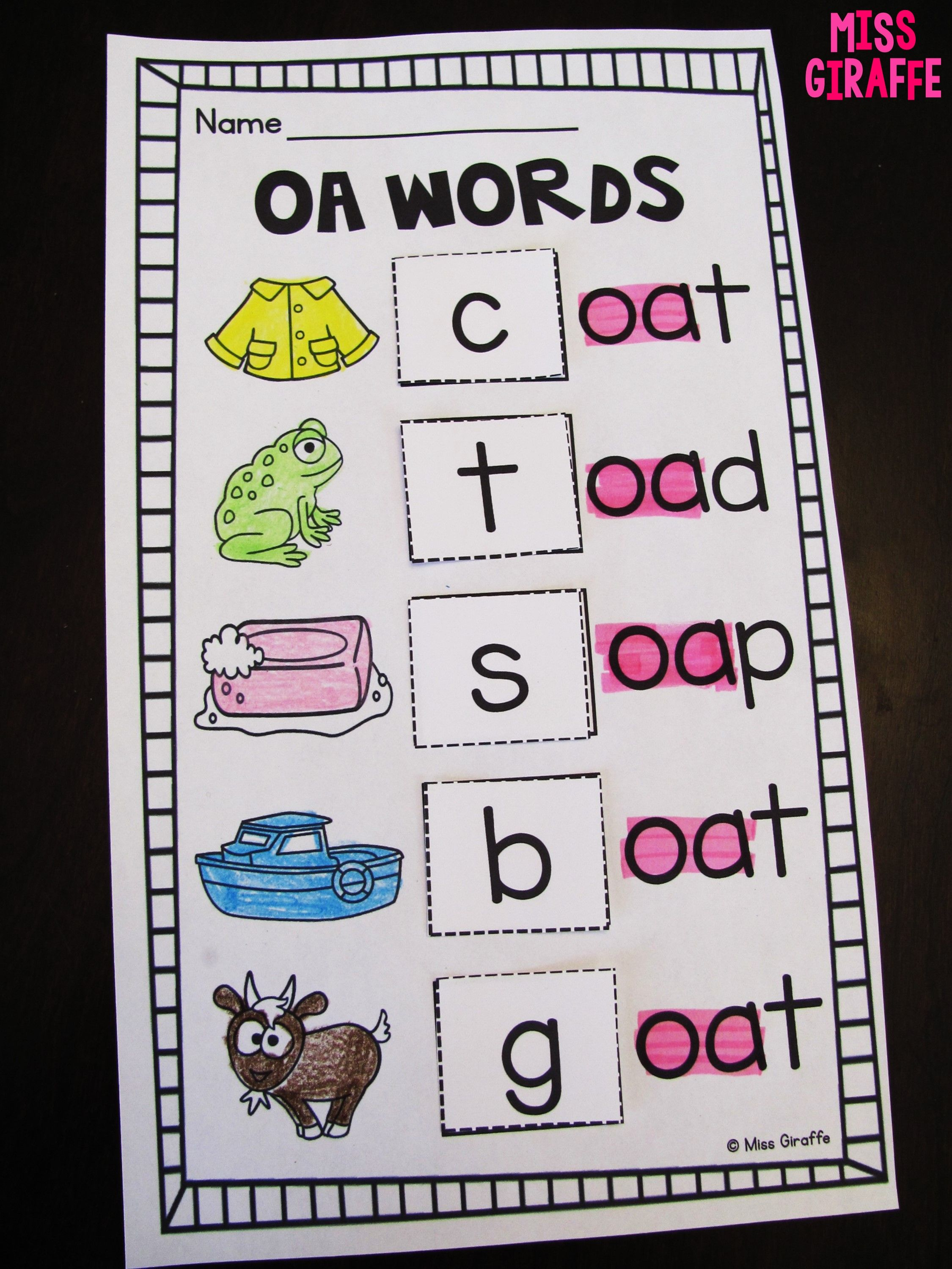 Awesome Oa Ow Worksheets And Activities To Practice Long O