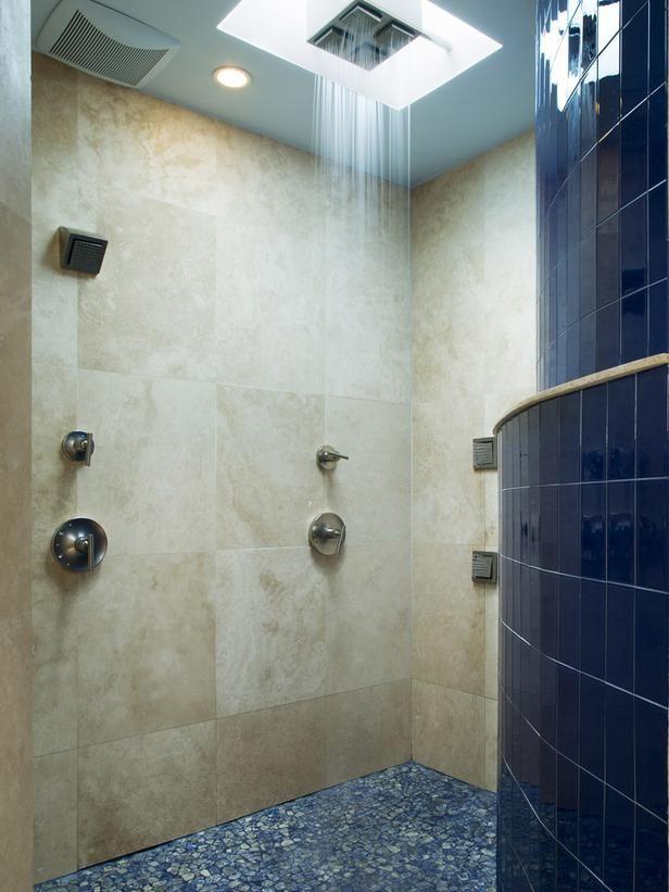 Incredible Blue Rain Shower Built For Two Http Www Hgtv Com