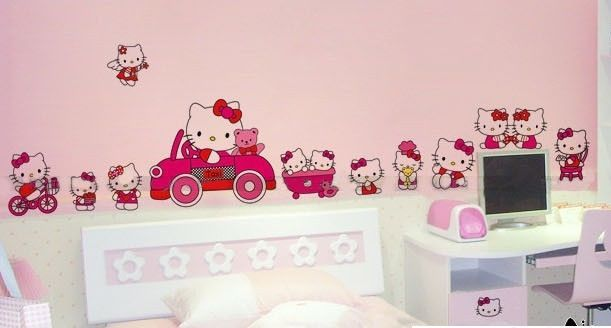 Great Hello Kitty Collection   Large Wall Decor Vinyl Stickers Kids Room Decal Art Part 23