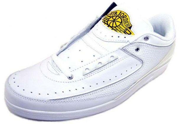 size 40 a5c18 1964f Air Jordan 2 II Low Retro White Metallic Silver Varsity Maize Shoes  99