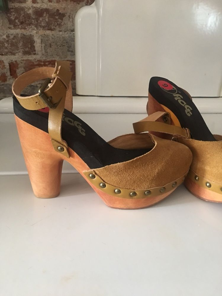 d6ab053d5d2 NEW!! Flogg Darcie Chunky Suede Sandals Wood High Heels Ankle Strap ...