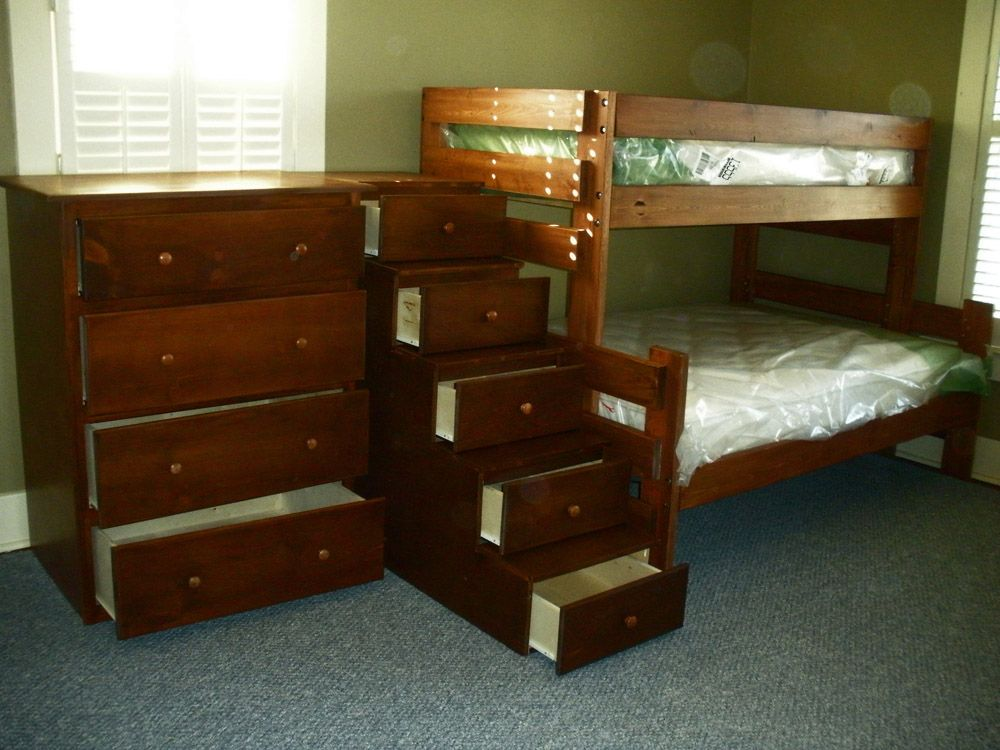 General Finishes Antique Cherry Safe bunk beds, Bunk