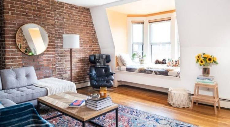 50 Gorgeous Living Room Exposed Brick Wall Decor Ideas Boston Apartment Home Home Decor