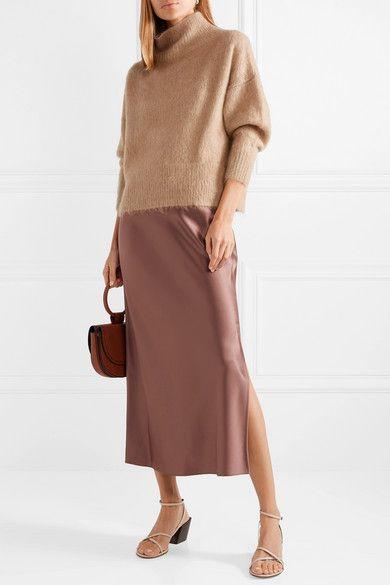3865210e6ff789 Theory | Satin maxi skirt | NET-A-PORTER.COM | Dressing Autumn in ...