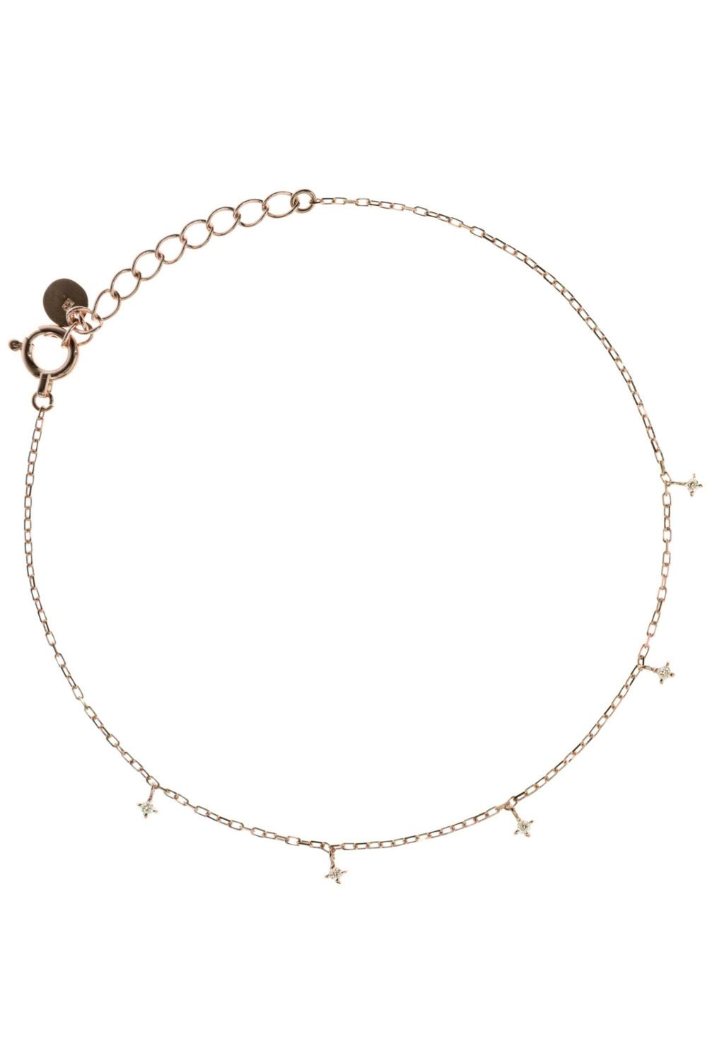 Light as a feather it wraps around your wrist. Five small diamonds sparkle eternally and underline your strong feminine side with their shine. #bracelet #diamonds #rosegold WWW.NEWONE-SHOP.COM