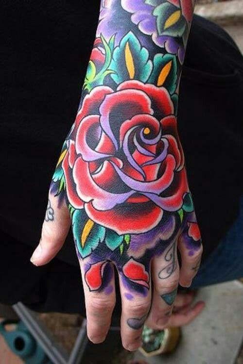 Tatuajes En La Mano De Rosas