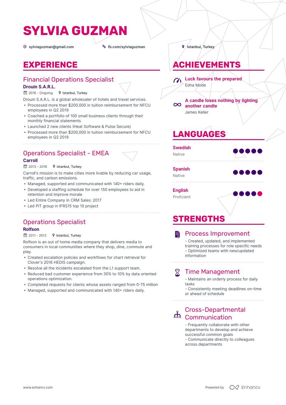 DOWNLOAD Operations Specialist Resume Example for 2020