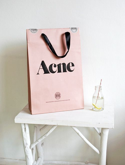 acne paper bag