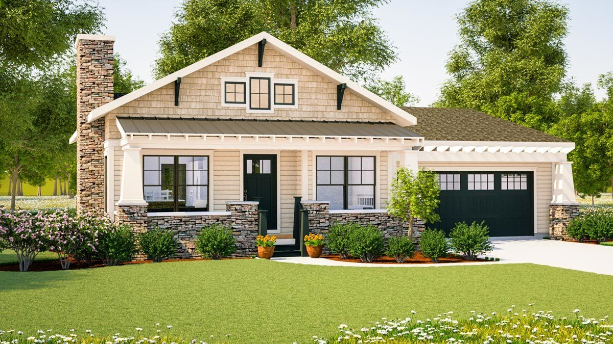 Plan 18267be Simply Simple One Story Bungalow Craftsman Bungalow House Plans Craftsman House Plans Bungalow House Plans