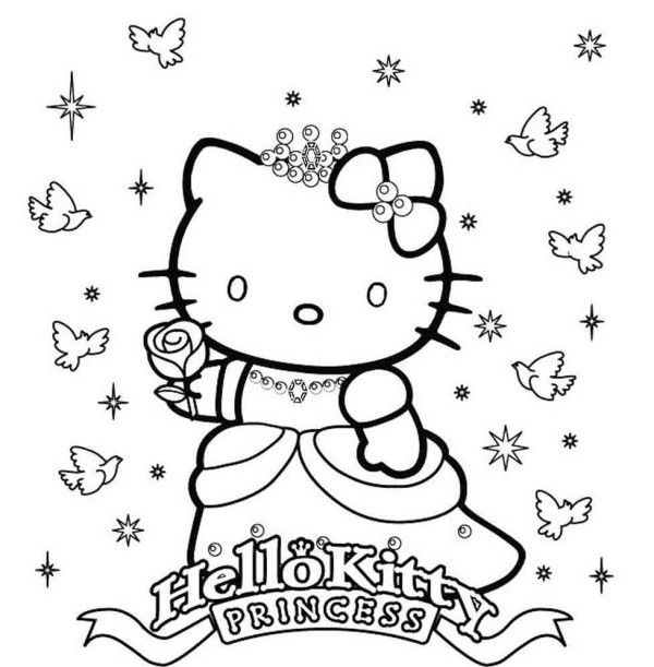 Princess Hello Kitty Coloring Pages | Printable Hello Kitty ...