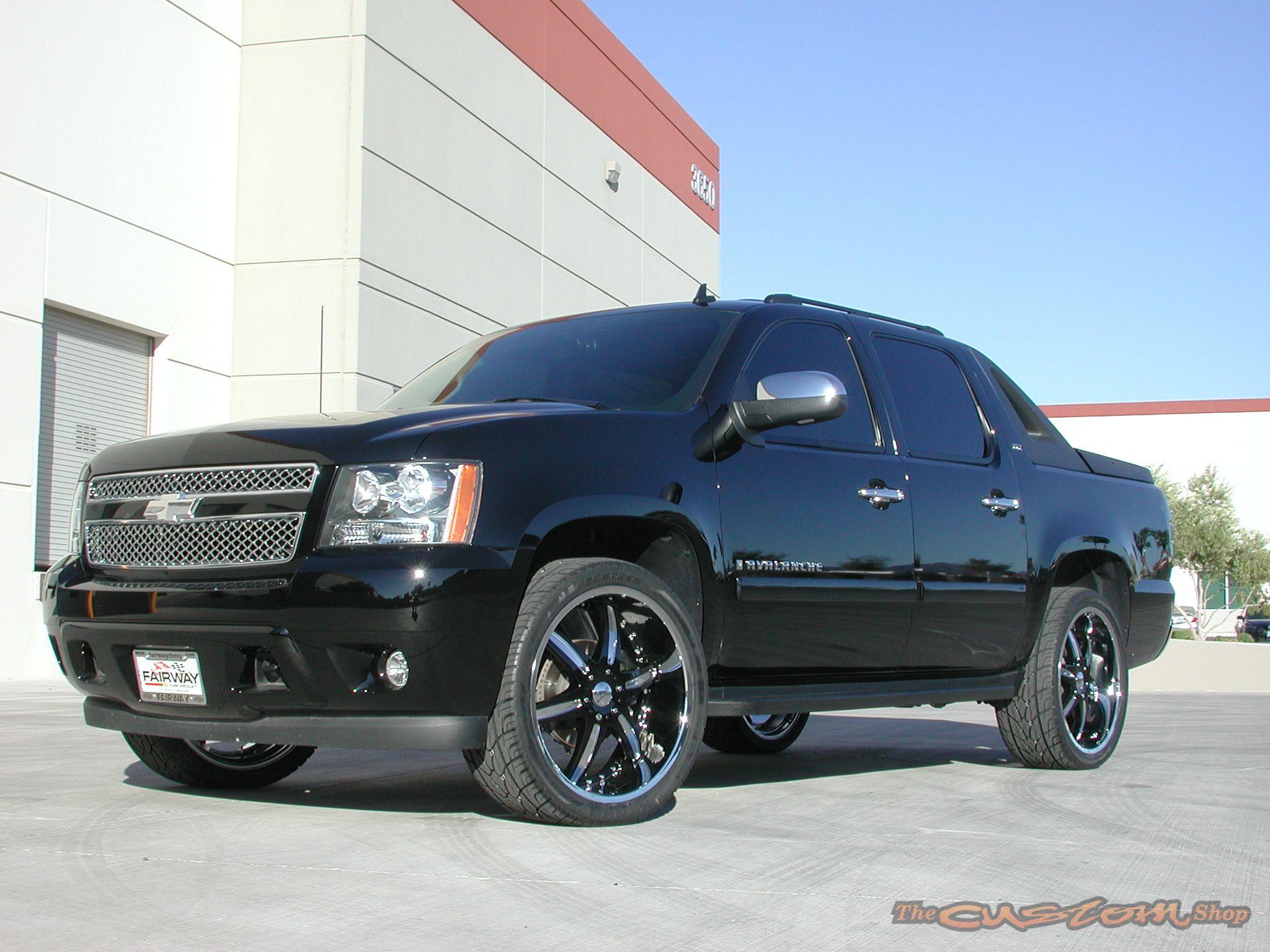 Black chevy silverado truck