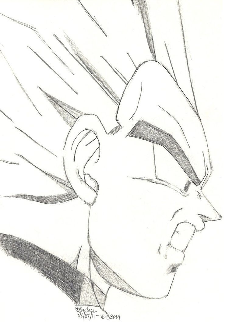 Dragon Ball Z Vegeta Sketch Dragon Ball Painting Dragon Ball Super Artwork Dragon Drawing
