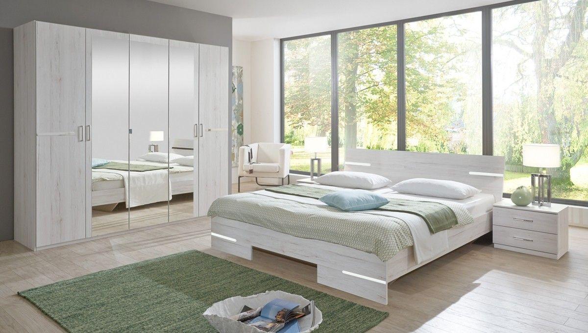 Schlafzimmer komplett Anna Weißeiche 10278. Buy now at https://www.moebel-wohnbar.de/schlafzimmer-komplett-anna-weisseiche-10278.html
