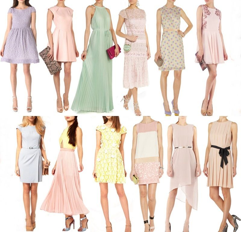Code pastel color dresses