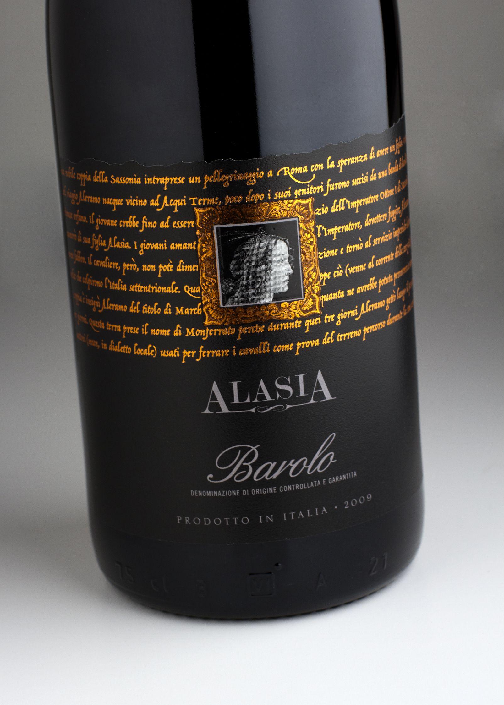 Alasia Barolo – premium end of a three tier range of Italian wines – Harpers Global Design Awards 2015 Bronze Medal