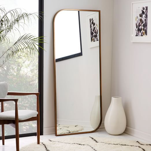 Metal Framed Floor Mirror - Rose Gold | west village pied-à-terre ...