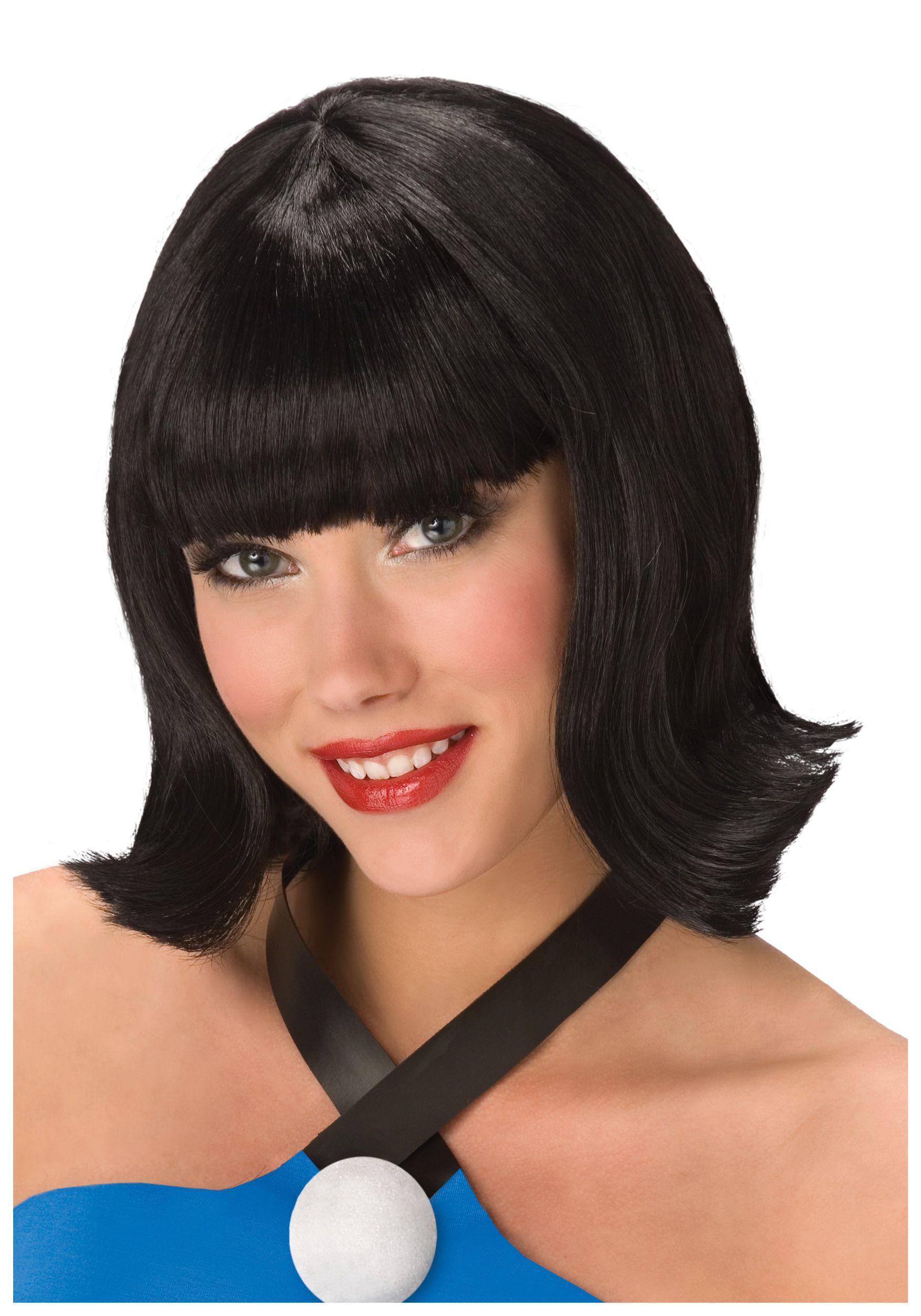 Deluxe Cavewoman Neighbor Wig Betty Rubble Betty Rubble Costume Medium Length Hair Styles