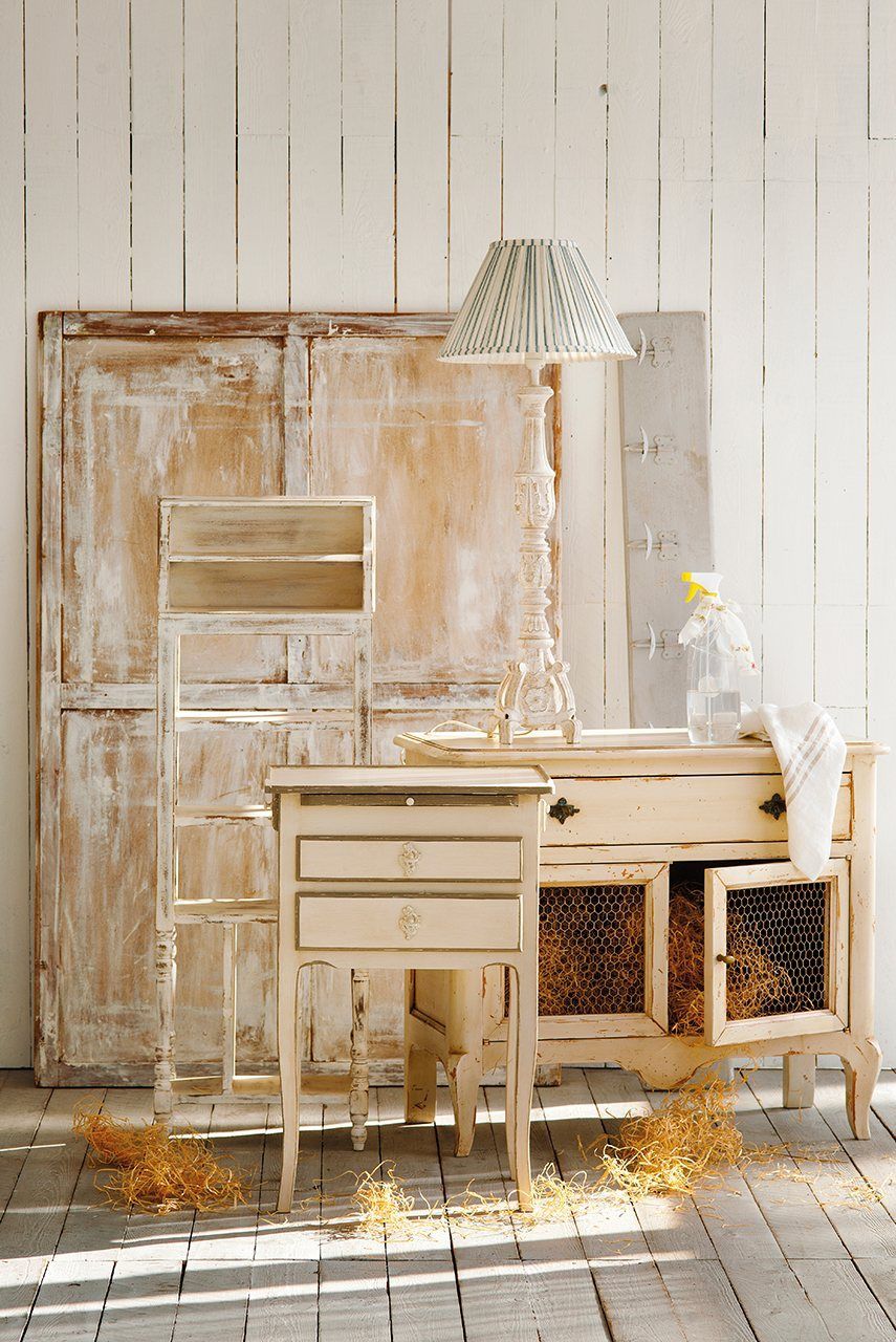Conservar los decapados utiliza cera de color blanco para - Cera incolora para muebles lacados ...