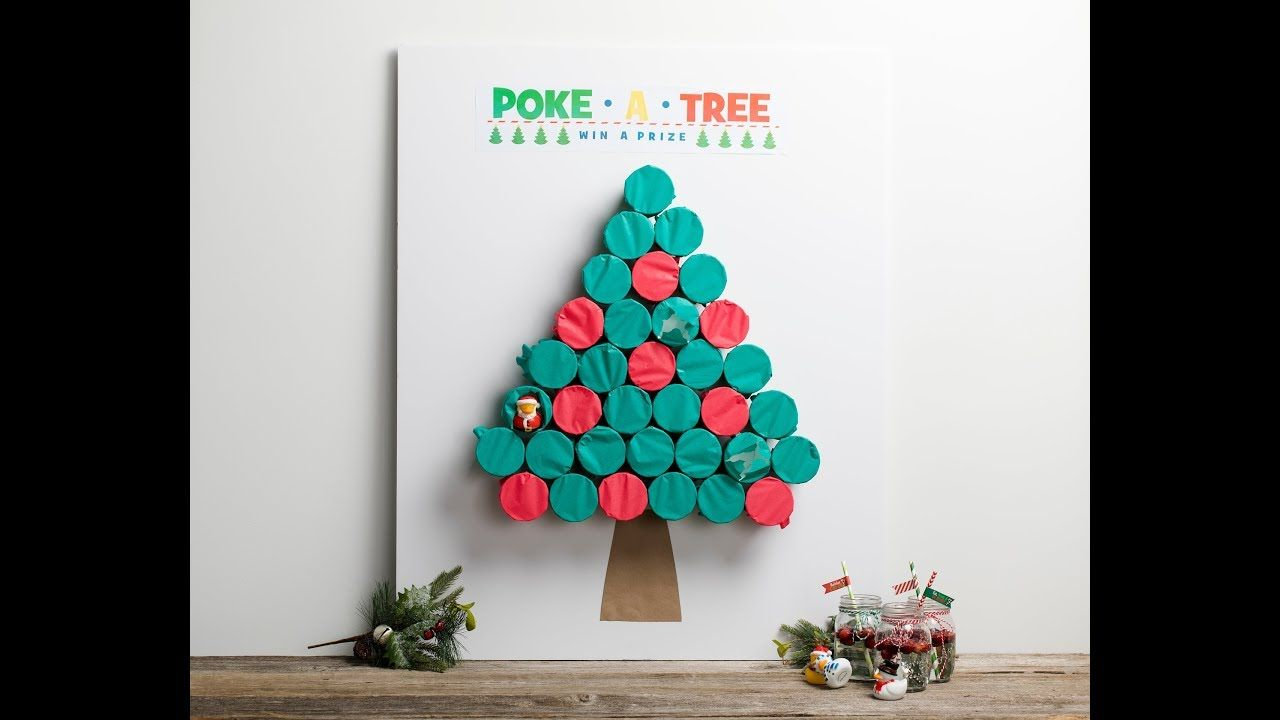 Create Your Own Poke A Tree Christmas Game Idea This Season To Keep Kids Occupied Christmas Party Decorations Diy Christmas Games Christmas Activities For Kids