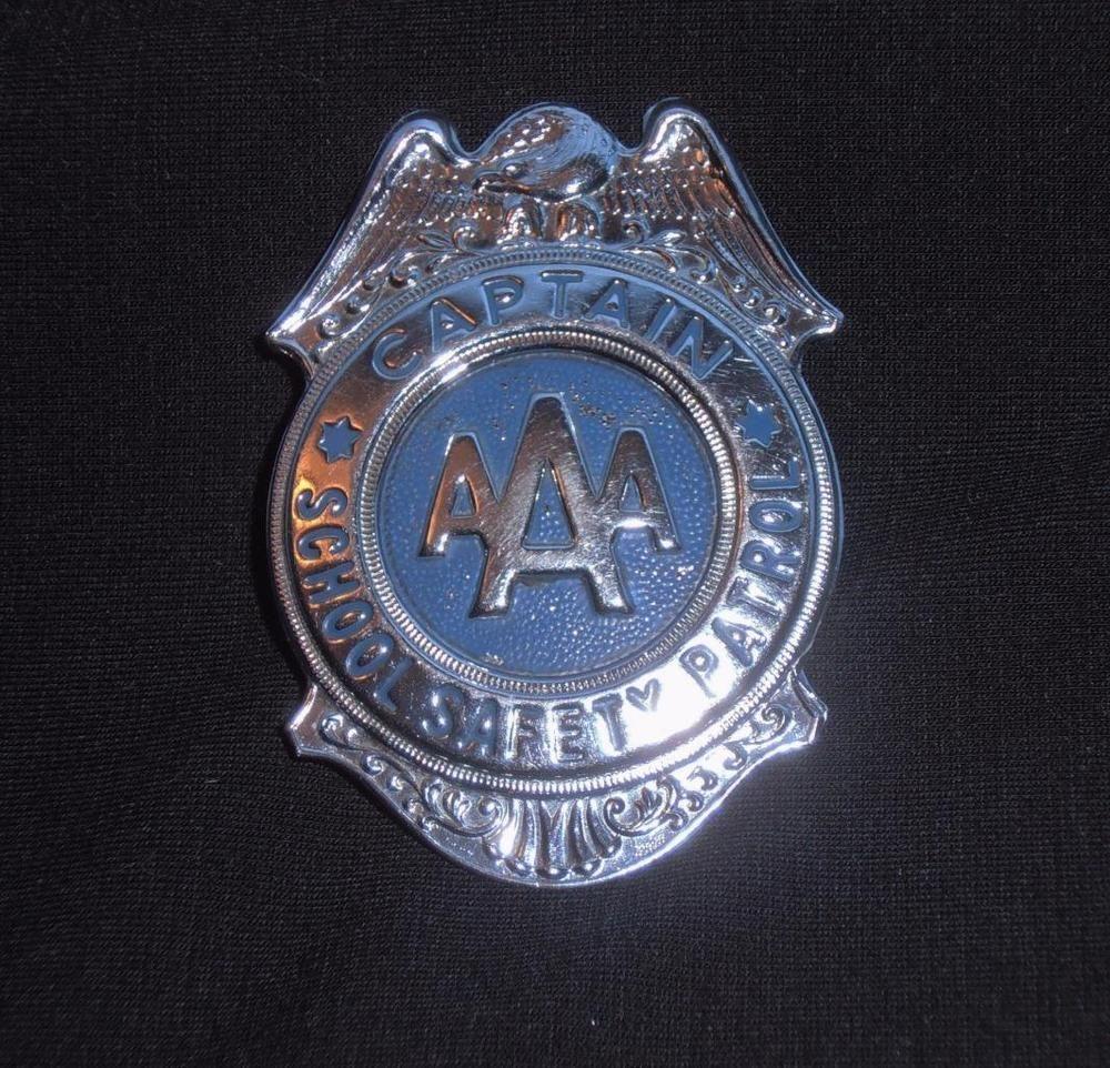 MidCentury, AAA Captain School Safety Patrol Badage
