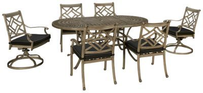 Gathercraft-Indio-Gathercraft Indio 7 Piece Outdoor Dining Set - Jordan's Furniture | Dining set ...