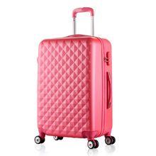 8c1333bf437 20,24 pulgadas de la mujer estuche de viaje maletas, diamante del viaje del  equipaje, equipaje de viaje abs, equipaje rodante, valija con rosa sobre  ruedas