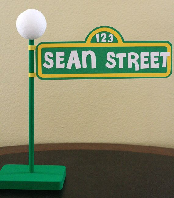 esesame street center pieces   Sesame Street Personalized Lamp ...