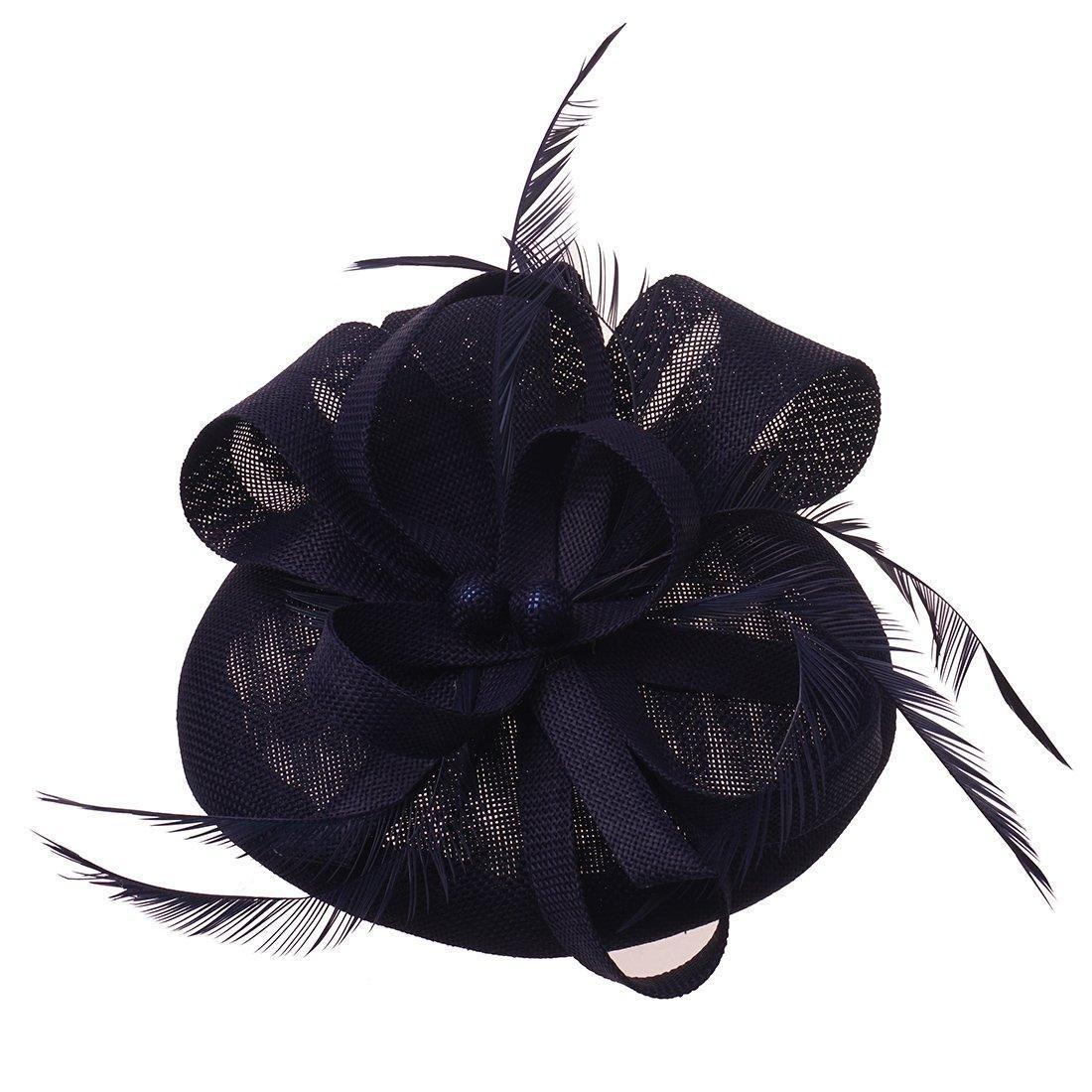 93ce5474923 Fascinator Pillbox Hat Headband Hair Clip For Cocktail Tea Party ...