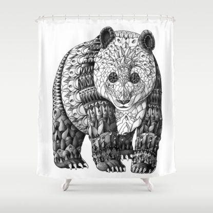 Panda Shower Curtain Panda Art Panda Art Prints