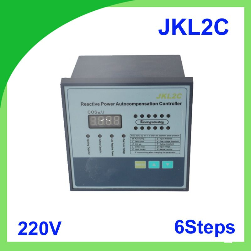 Jkl2c With Power Supply 220v 6 Steps Reactive Power Factor Compensation Controller 50 60hz For Switchgear Power Supply Power Capacitors