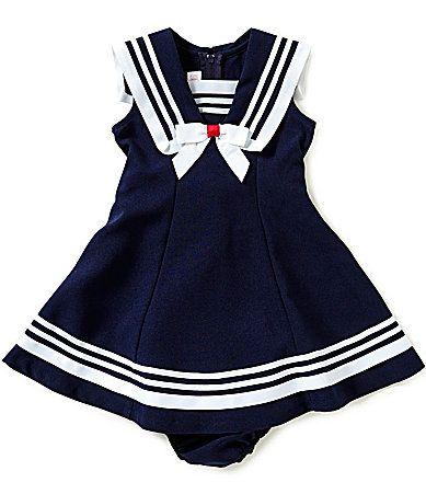 Bonnie Baby Baby Girls 1224 Months Nautical Dress Dillards Lil