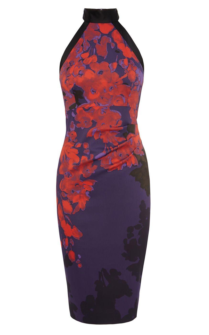 ORIENTAL FLORAL PRINT PENCIL DRESS | Luxury Women\'s dresses | Karen ...