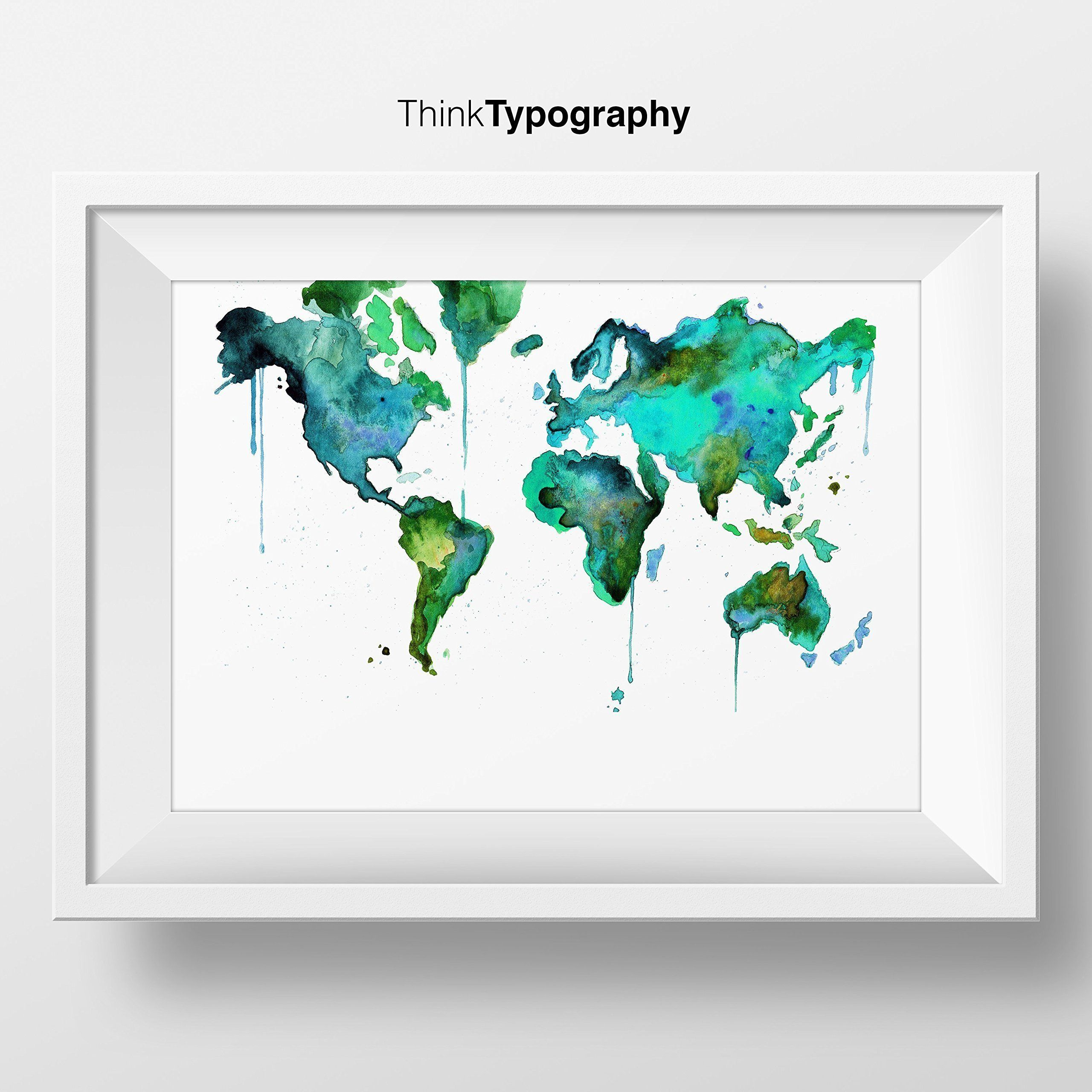 World map poster teal world map map travel map map art world map poster teal world map map travel map map art gumiabroncs Choice Image