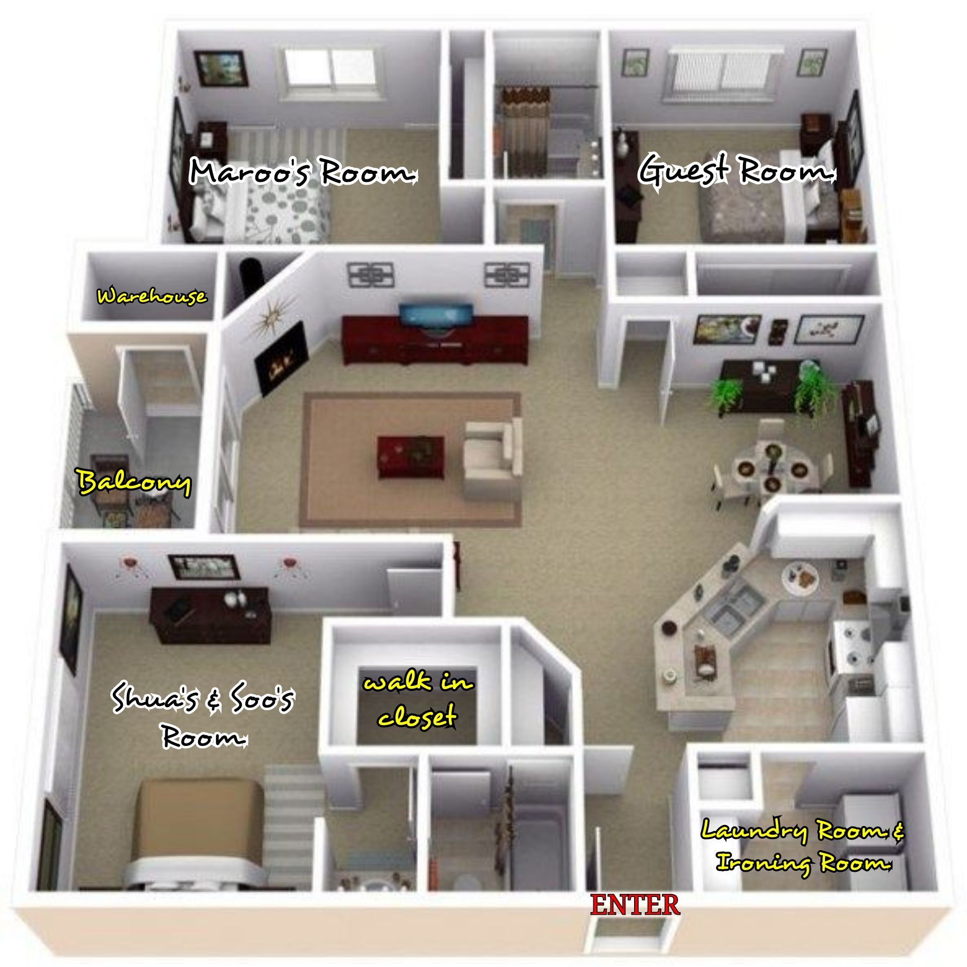 Daddyable Joshua Hong Floor Plan Design 3d House Plans Sims 4 House Design