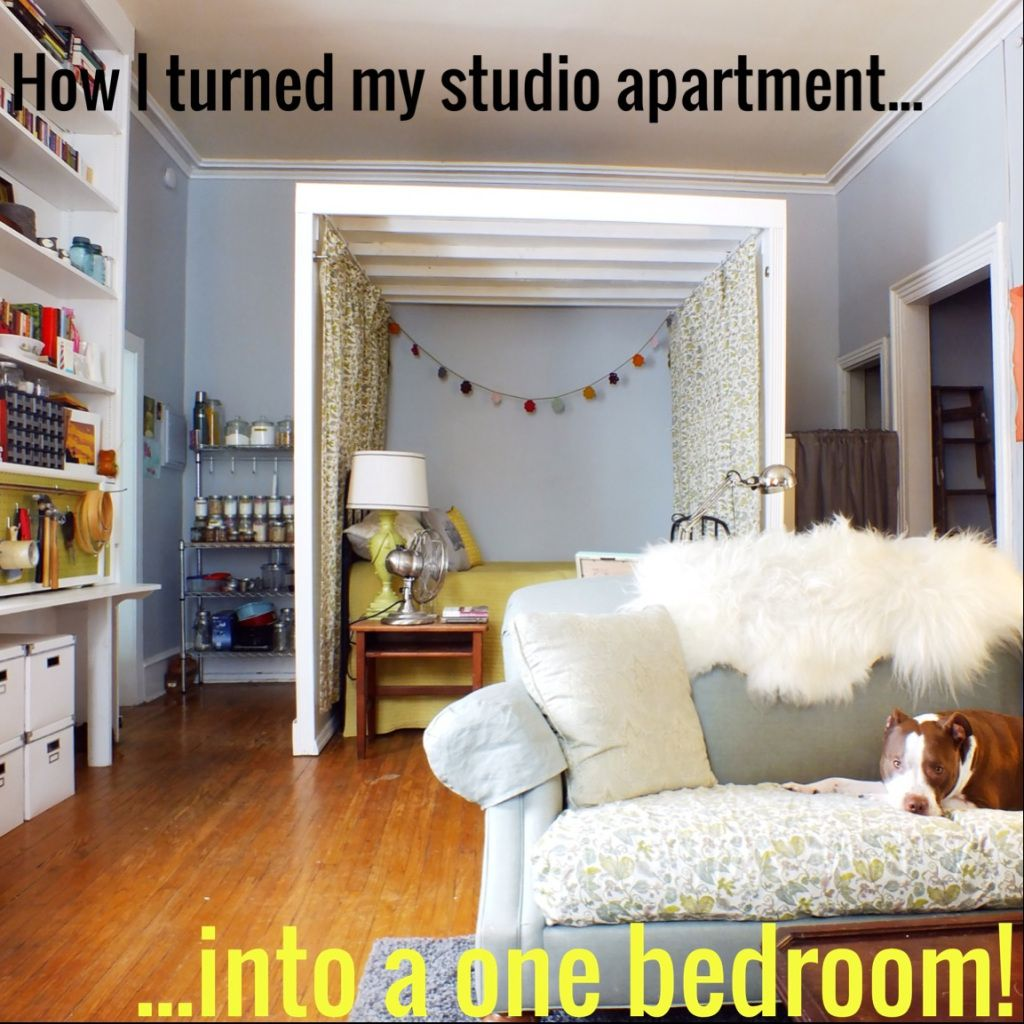 How i turned my studio apartment into a one bedroom the - One bedroom efficiency apartments ...