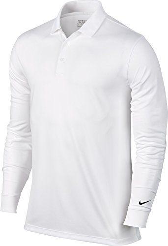 4e935a23df4cf Nike Golf Victory Longsleeve Polo (White Black) L Polos