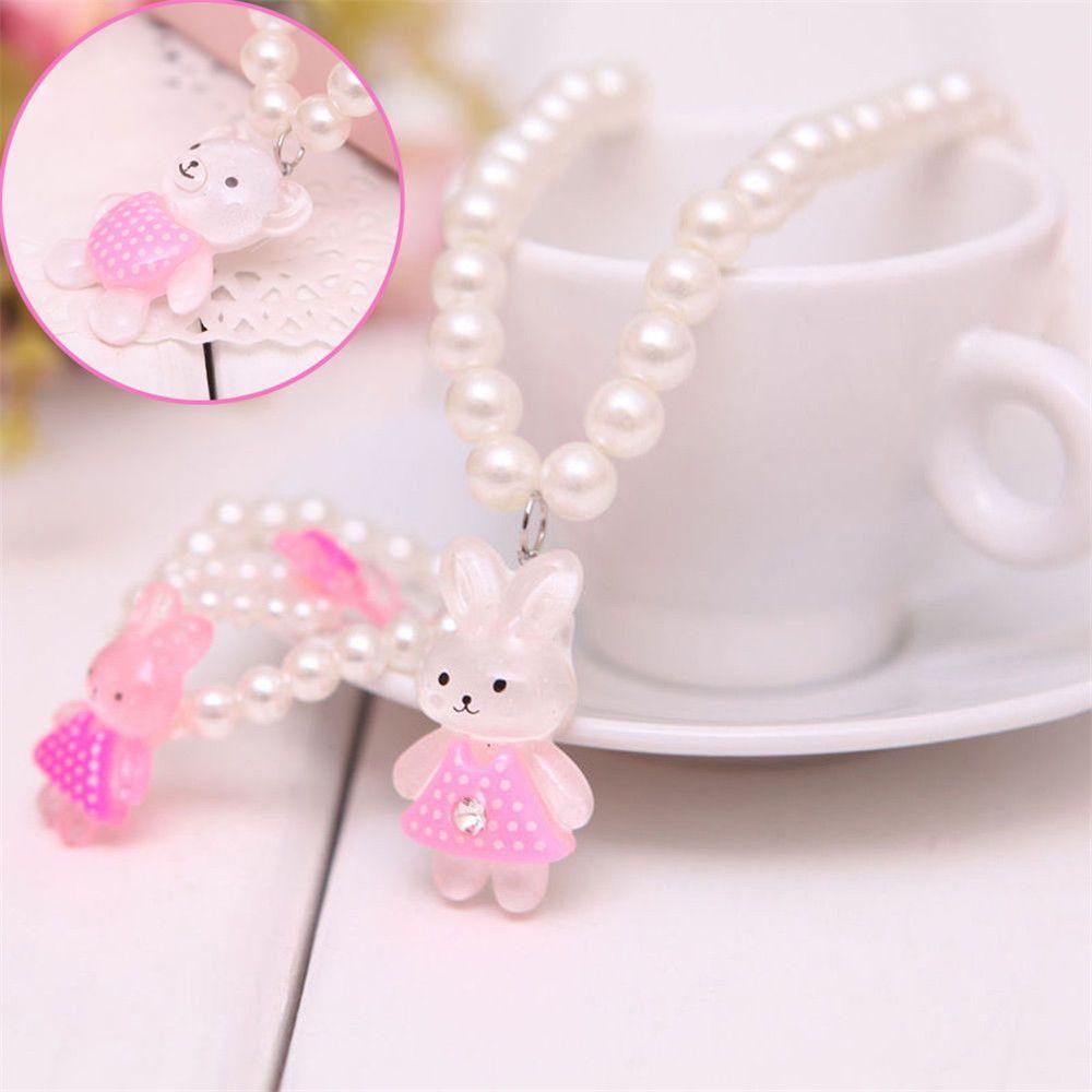 Princess baby beads necklace bracelet cute ring set jewelry children