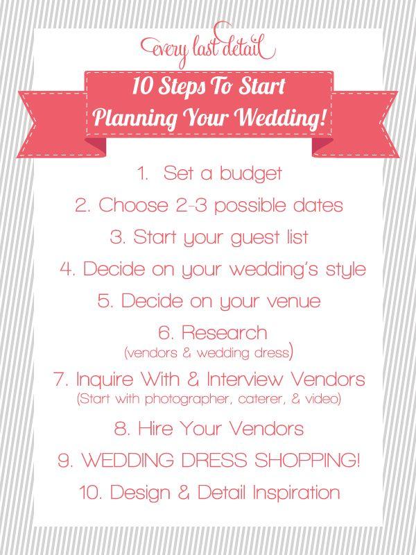 10 Steps To Start Planning A Wedding