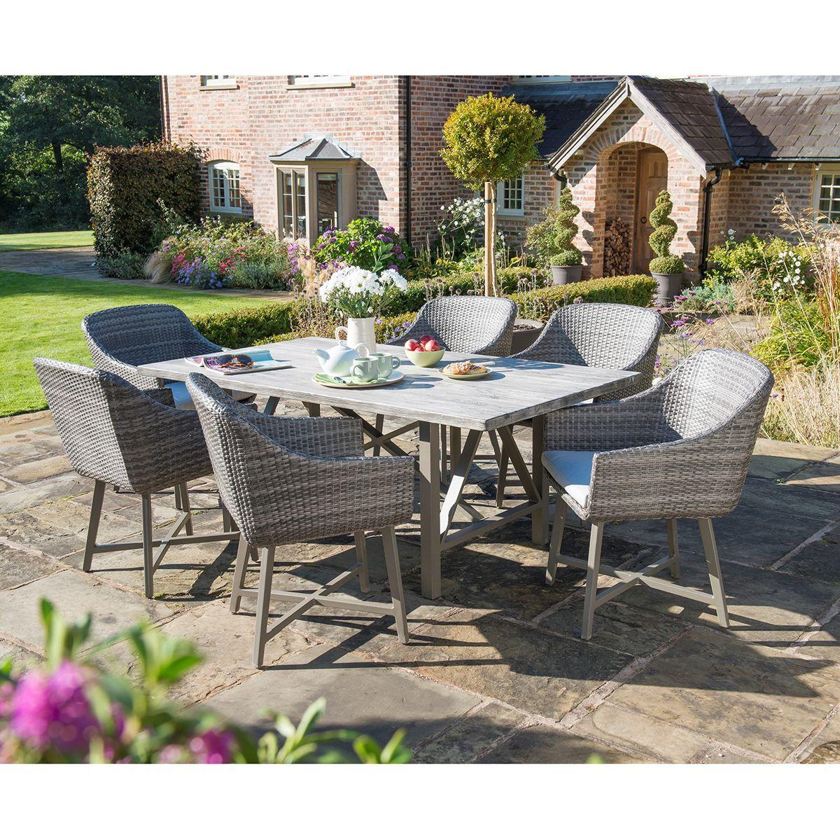 Kettler La Mode 12 Seat Suite  Notcutts  Grey garden furniture