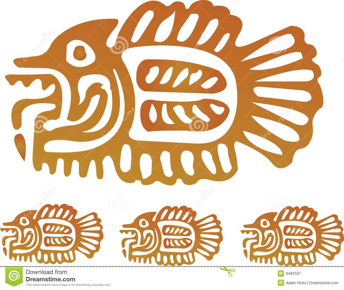 6957936381b37 Aztec Fish Royalty Free Stock Photography - Image: 9493187 Fish Design, Native  American Animals