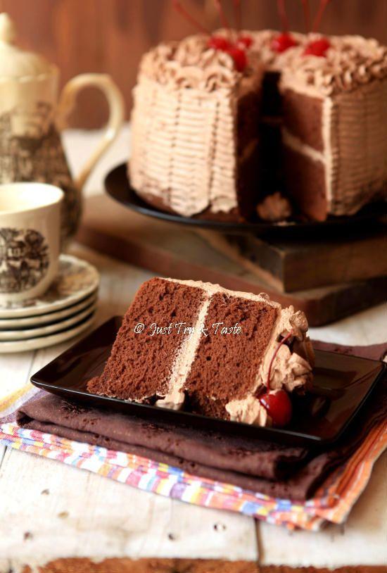 Resep Cake Chiffon Coklat dengan Krim Mocca JTT Manismanis